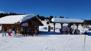 départ pistes ski de fond nordique les saisies forfaits ventes portiques