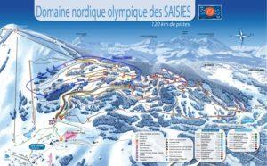 pistes saisies beaufortain hauteluce ski de fond nordique