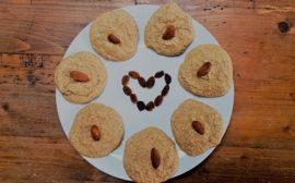 cookies amandes pommes végétarien glutenfree sans lactose